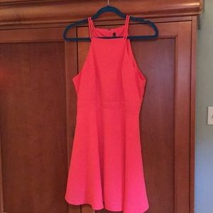 Coral colored dress new with tags